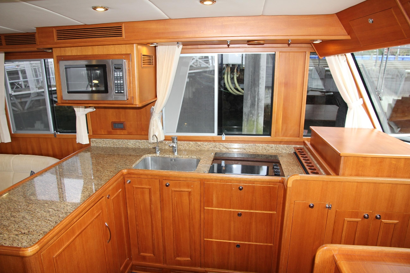 2009 Grand Banks 47 Europa, Portside Galley