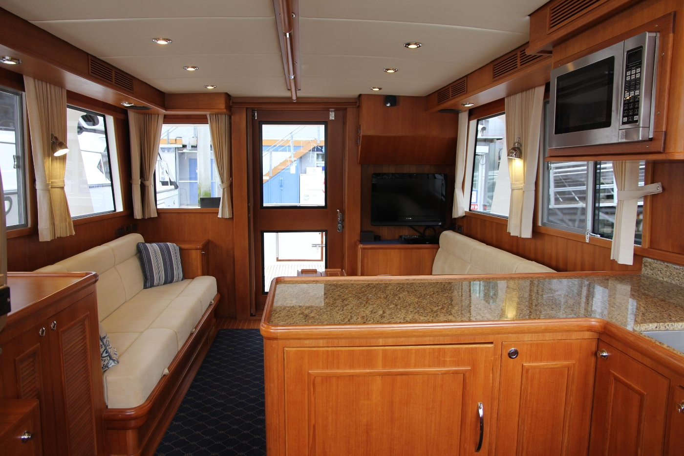 2009 Grand Banks 47 Europa, Salon from Galley