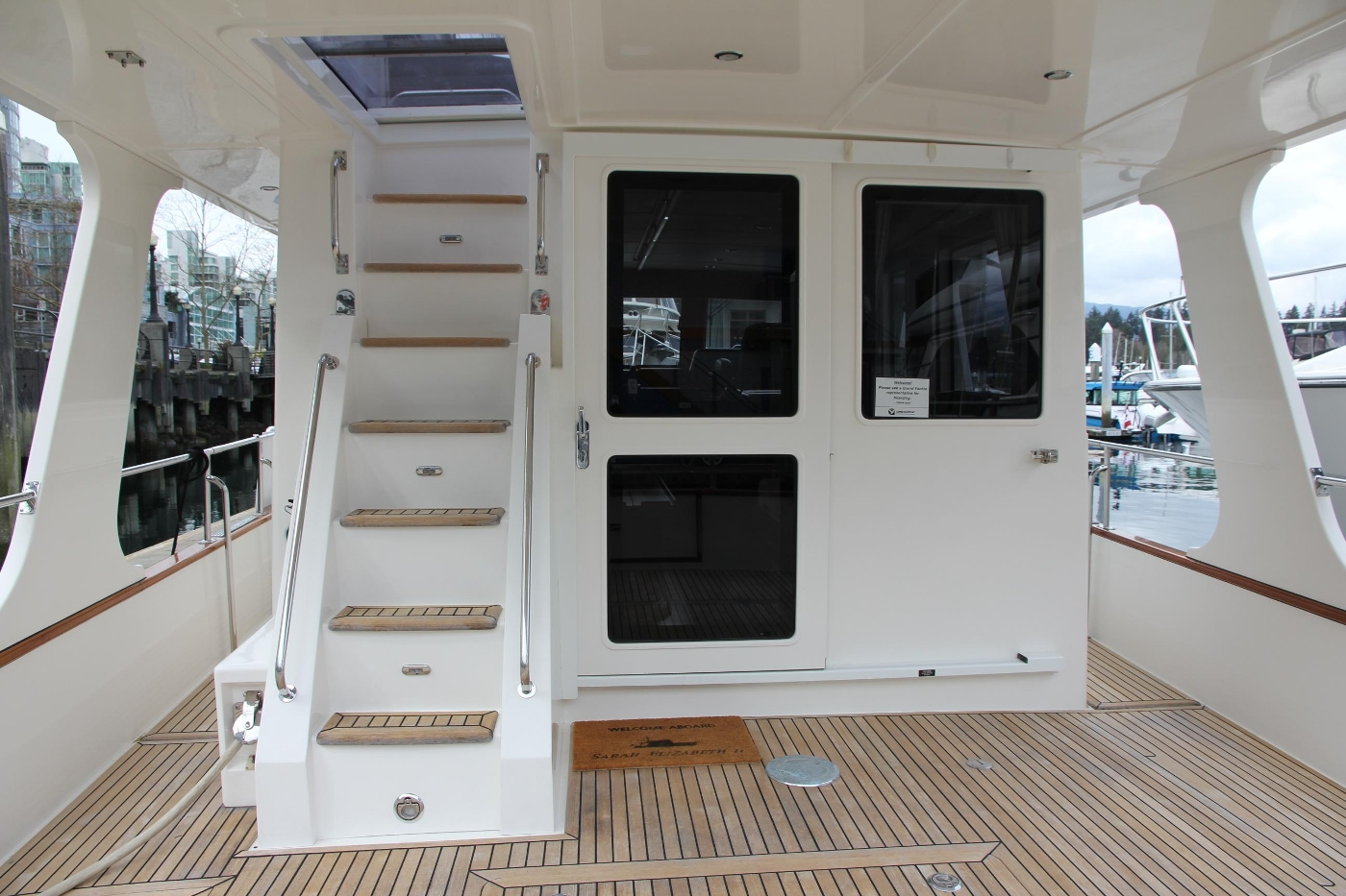 2009 Grand Banks 47 Europa, Aft Deck