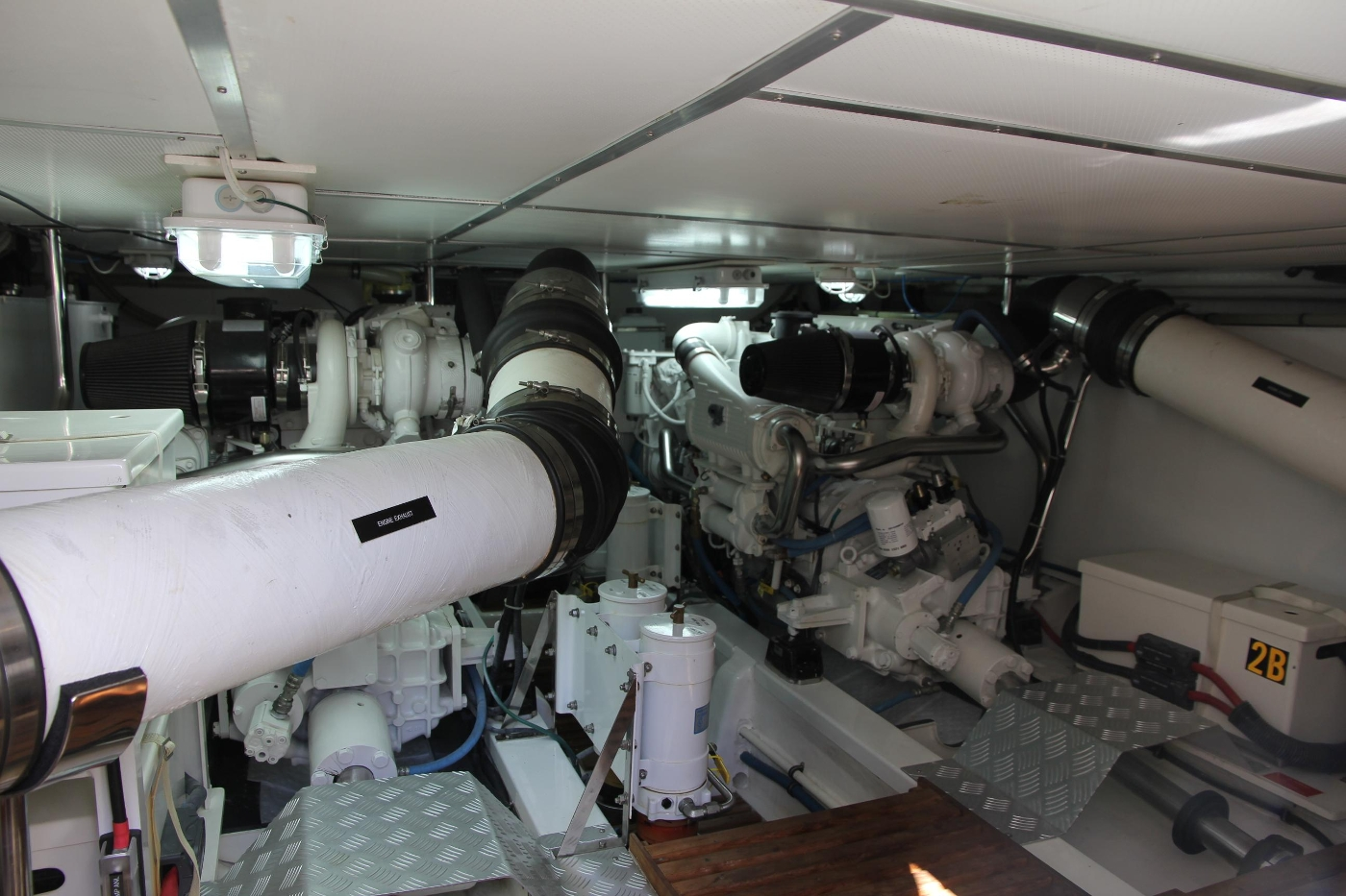 2009 Grand Banks 47 Europa, Engine Room Looking Forward