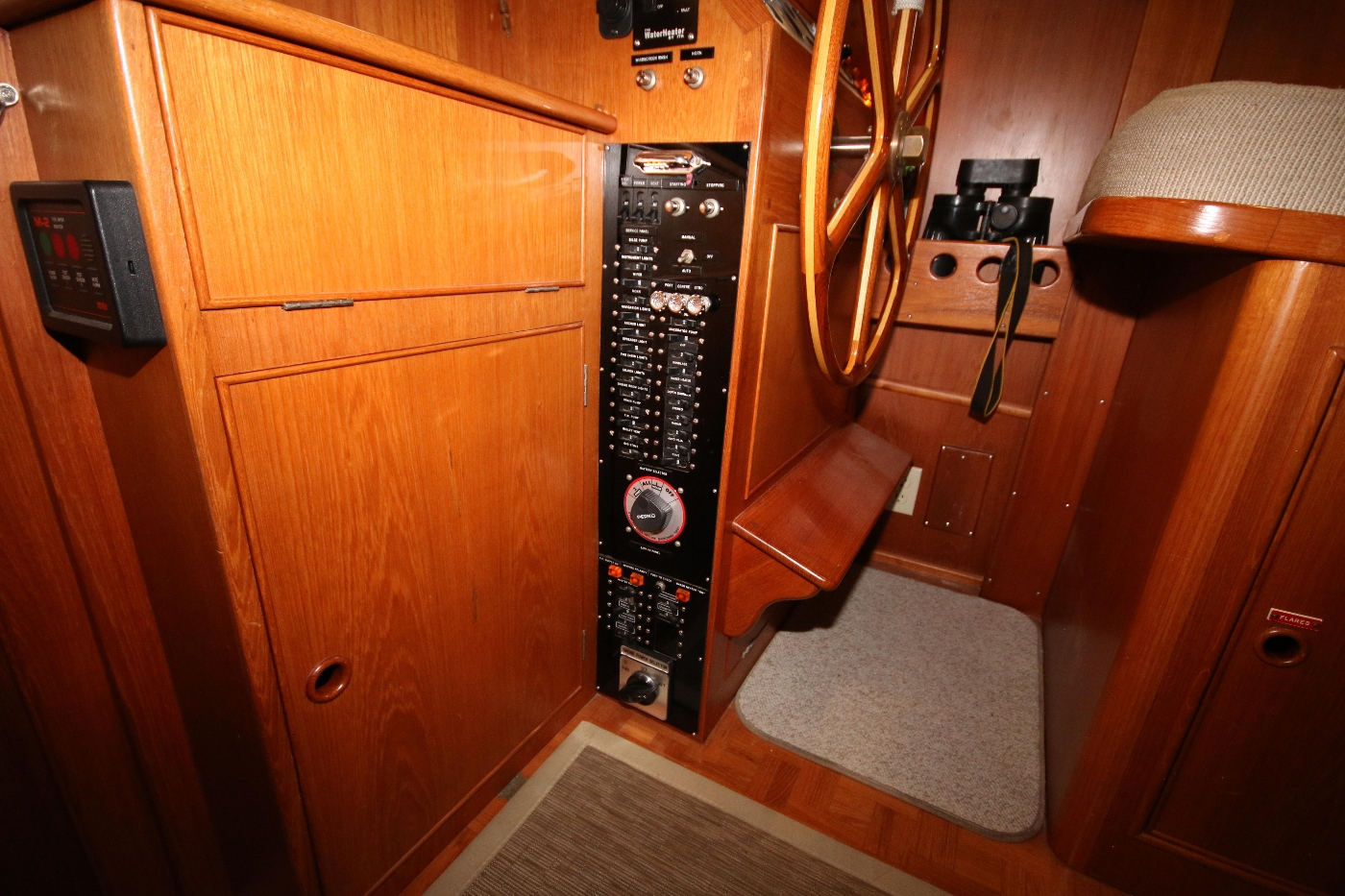1988 Grand Banks 32, Electrical Panel near Helm