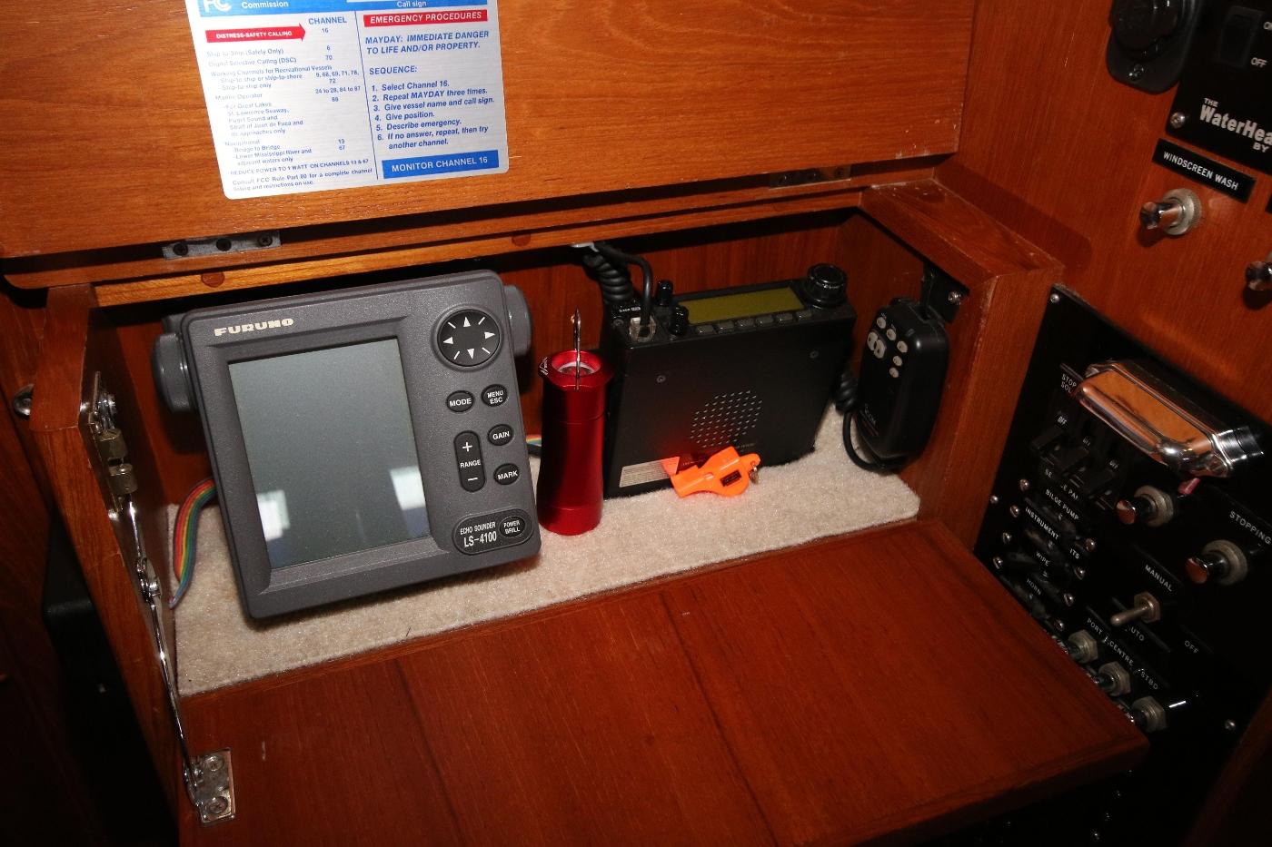 1988 Grand Banks 32, Depth Sounder & Additional VHF