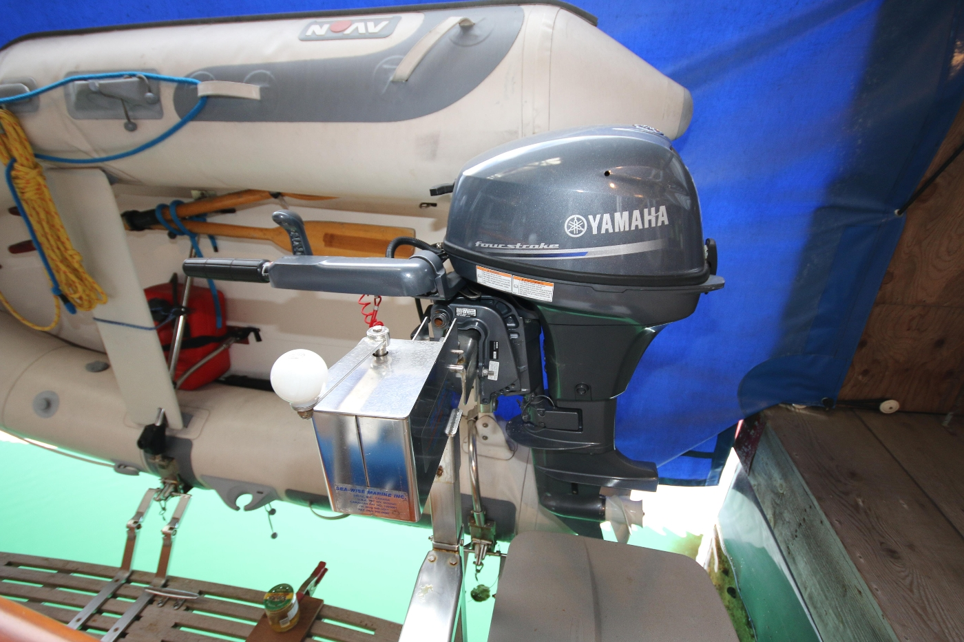 1988 Grand Banks 32, Tender & Outboard -Sea-Wise Davit