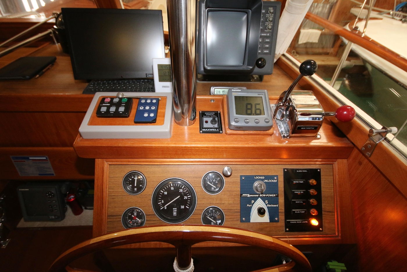 1988 Grand Banks 32, Helm Controls and Electronics