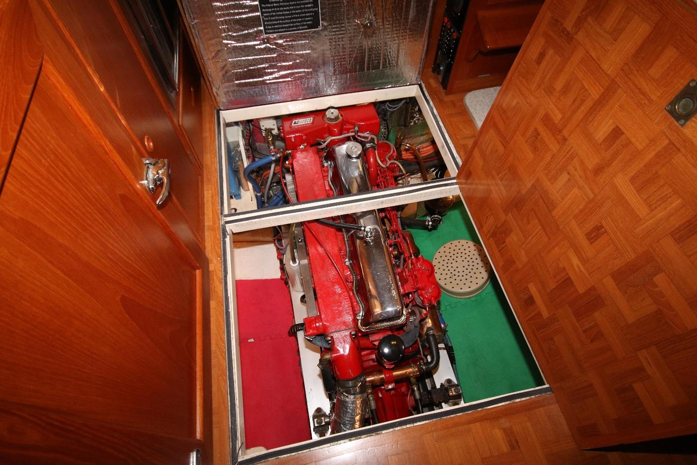 1988 Grand Banks 32, Super Clean Engine Room