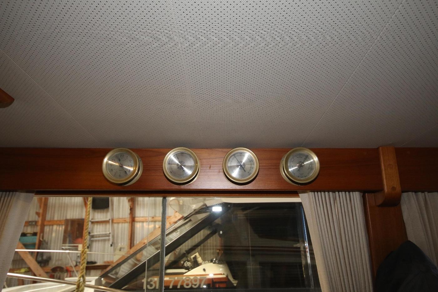 1988 Grand Banks 32, Clock, Barometer, Thermo & Hygro