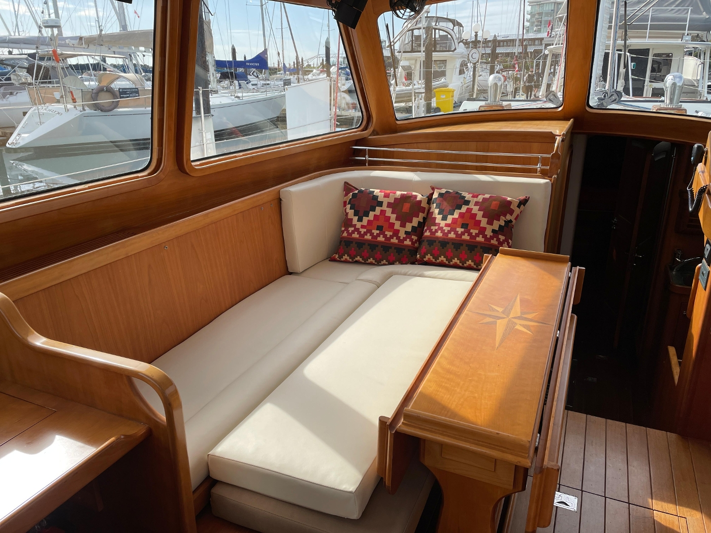 2008 Gorbon 53 Pilothouse, Settee converted to double bed