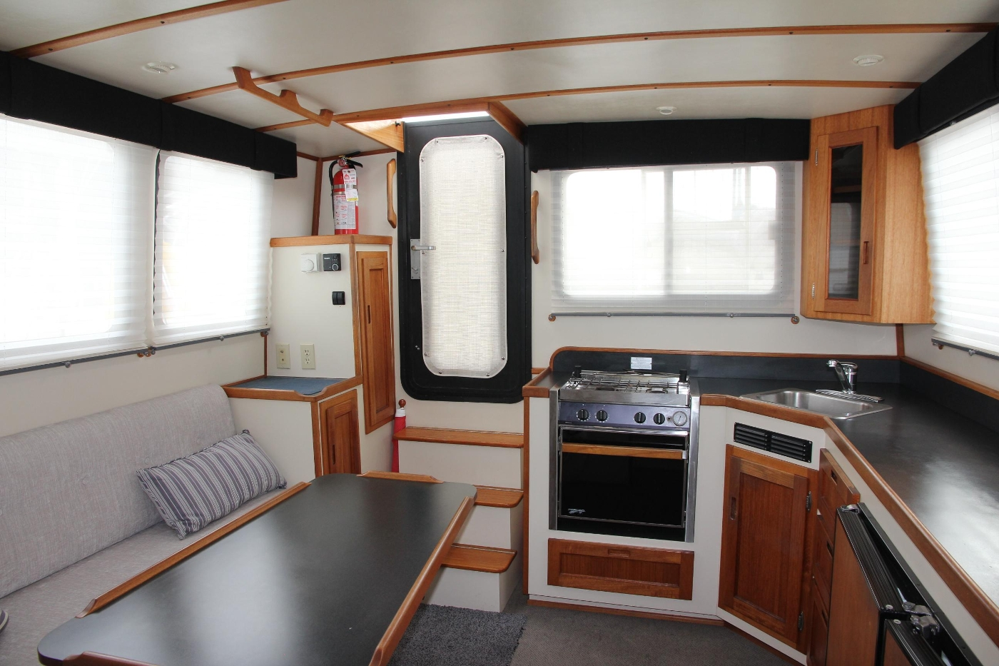2001 Nordic Tugs 32 Pilothouse, Salon and Galley Looking Aft