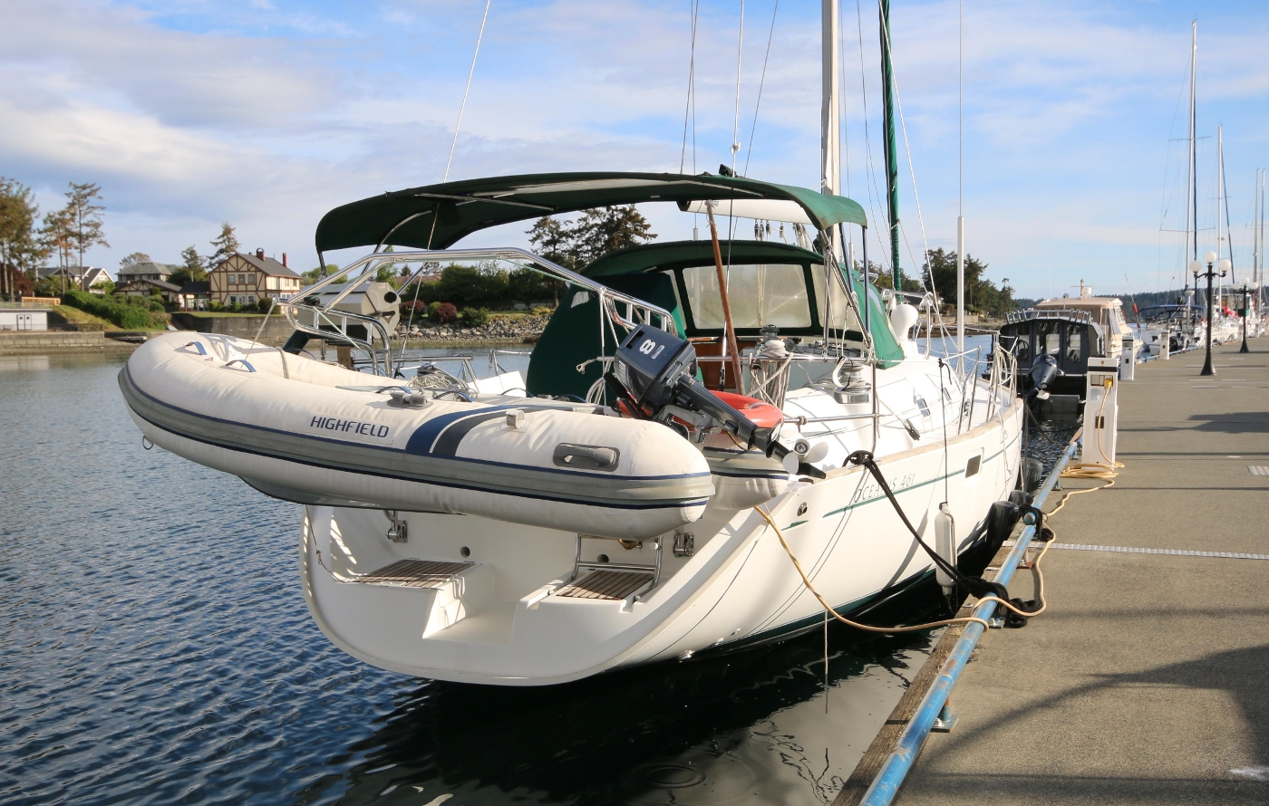 1997 Beneteau Oceanis 461, West Wind on our docks