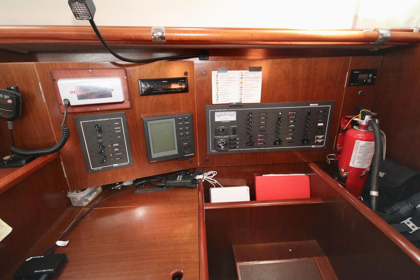 1997 Beneteau Oceanis 461, Navigation Table & DC/AC Panels