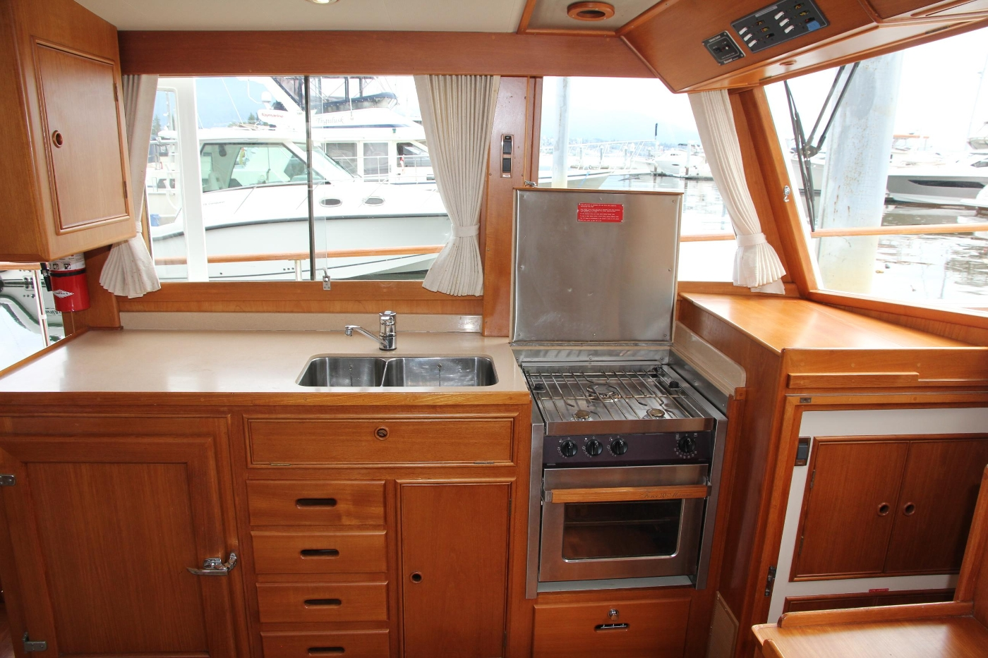 2001 Grand Banks 42 Classic, Linear Galley