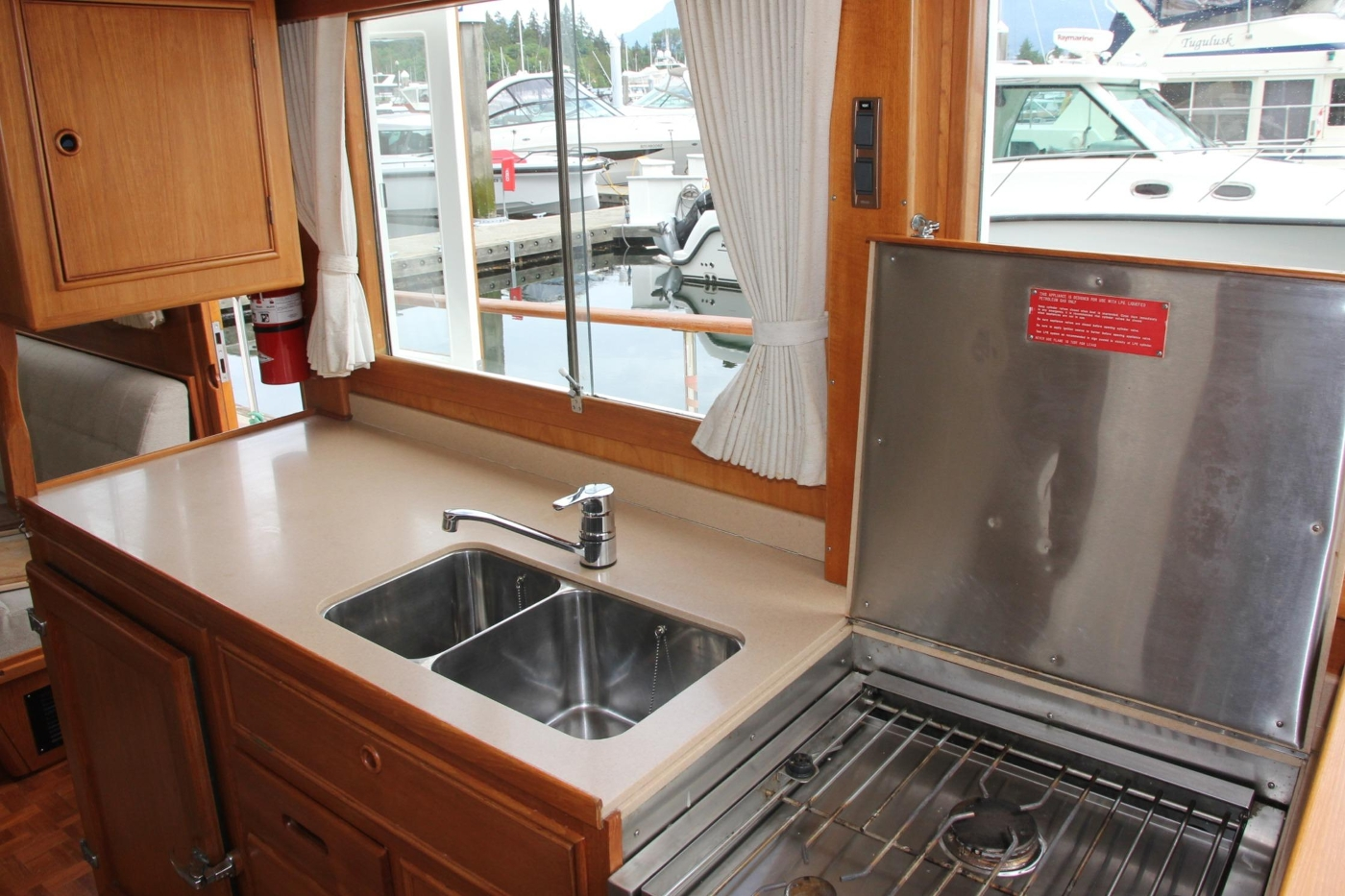 2001 Grand Banks 42 Classic, Galley Looking Aft