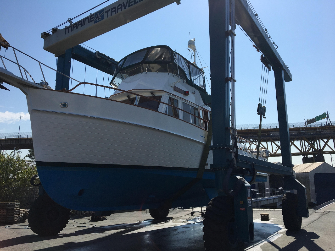 2001 Grand Banks 42 Classic, Haul Out Portside