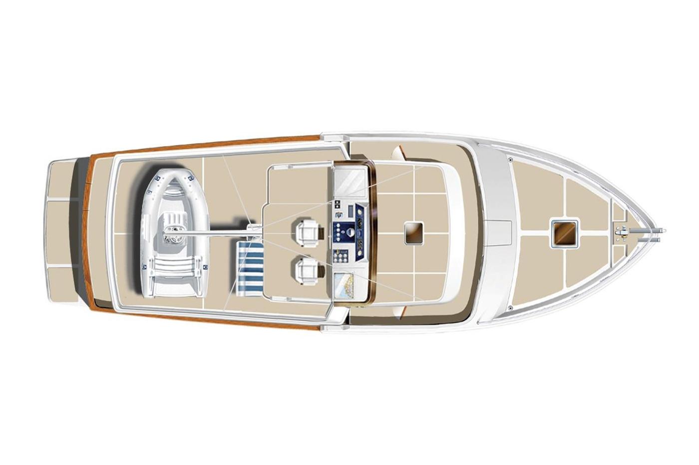 2011 Selene 45, Flybridge layout
