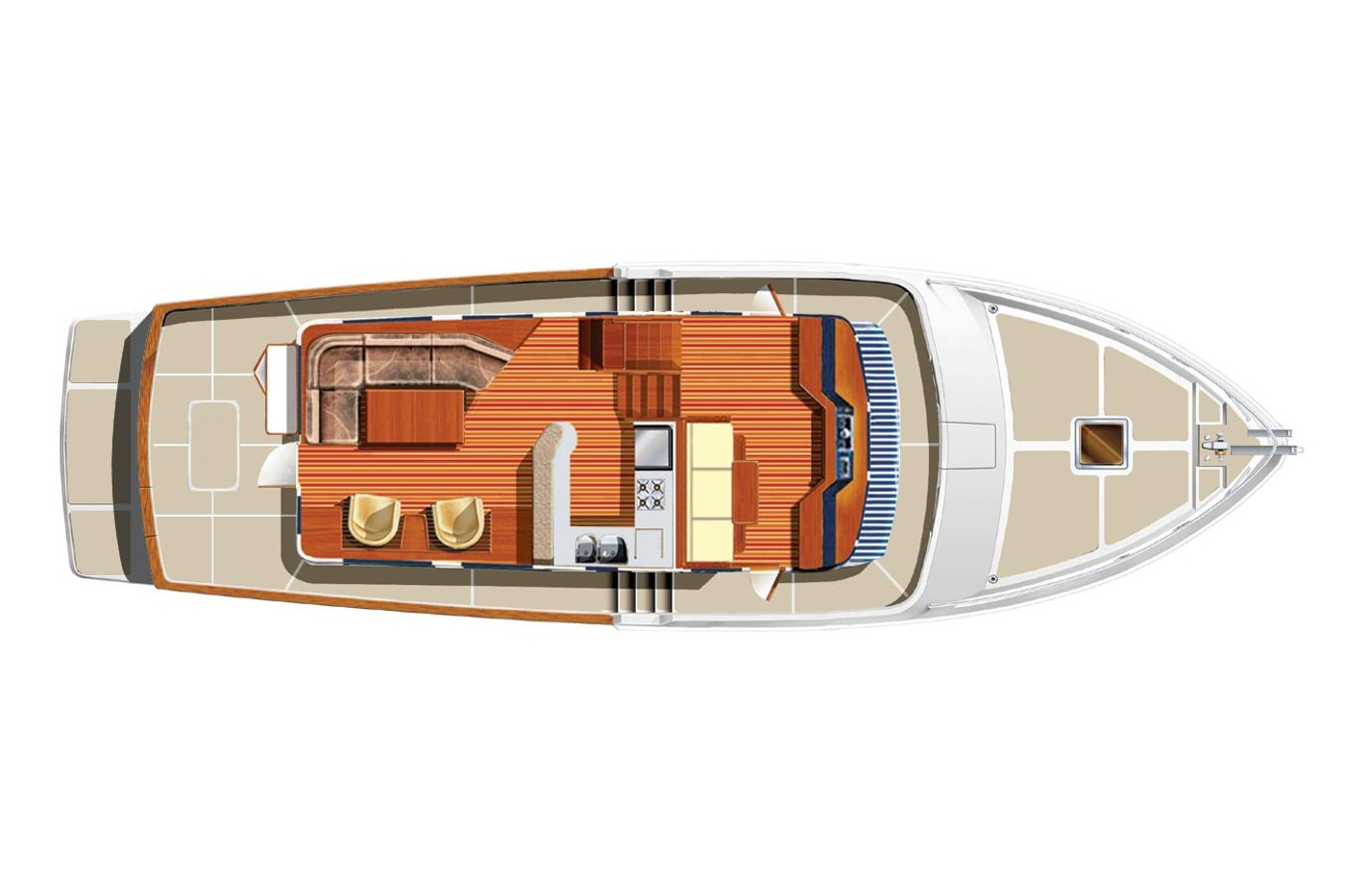 2011 Selene 45, Main deck layout