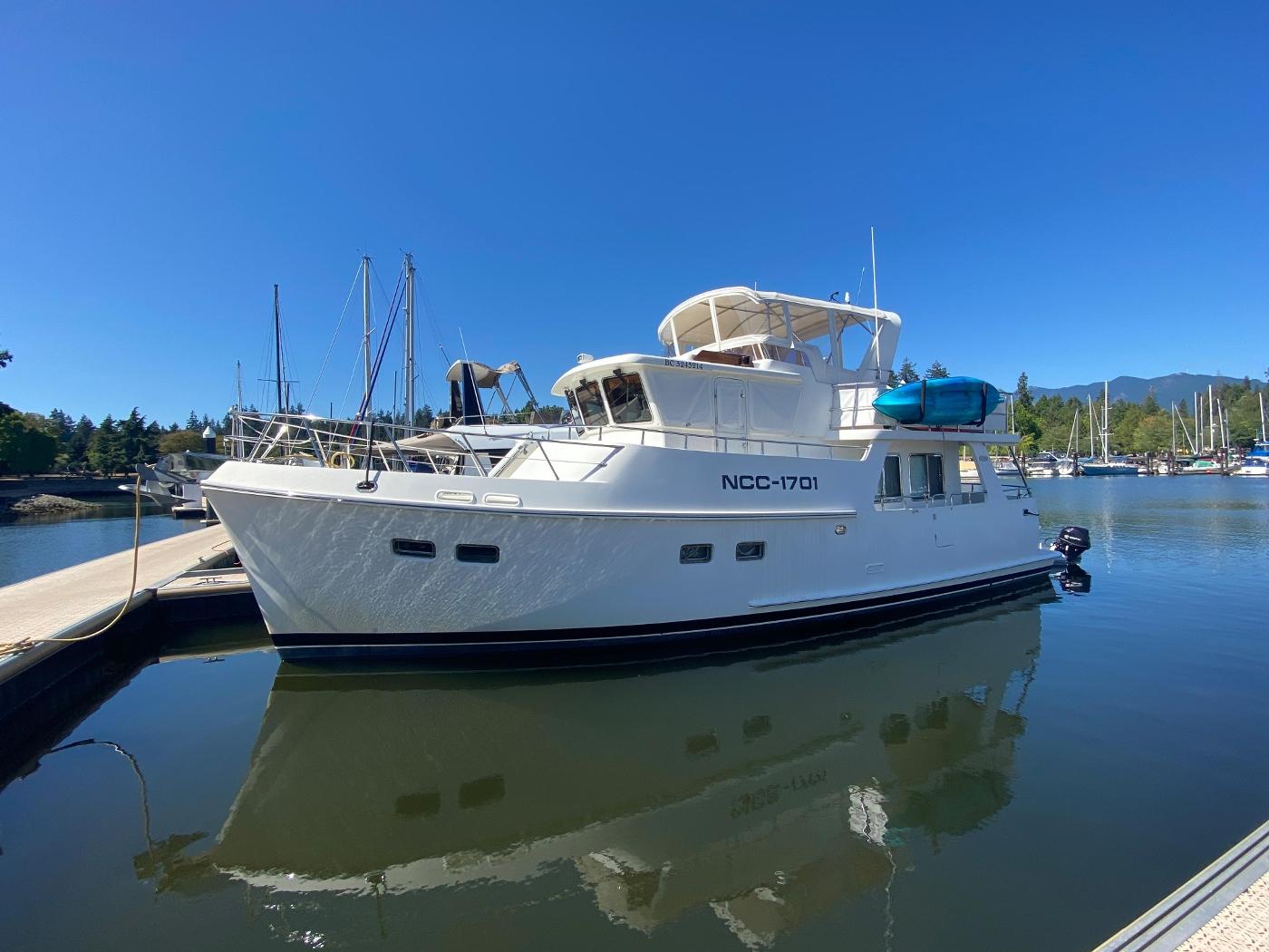 2011 Selene 45, NCC-1701 at the dock