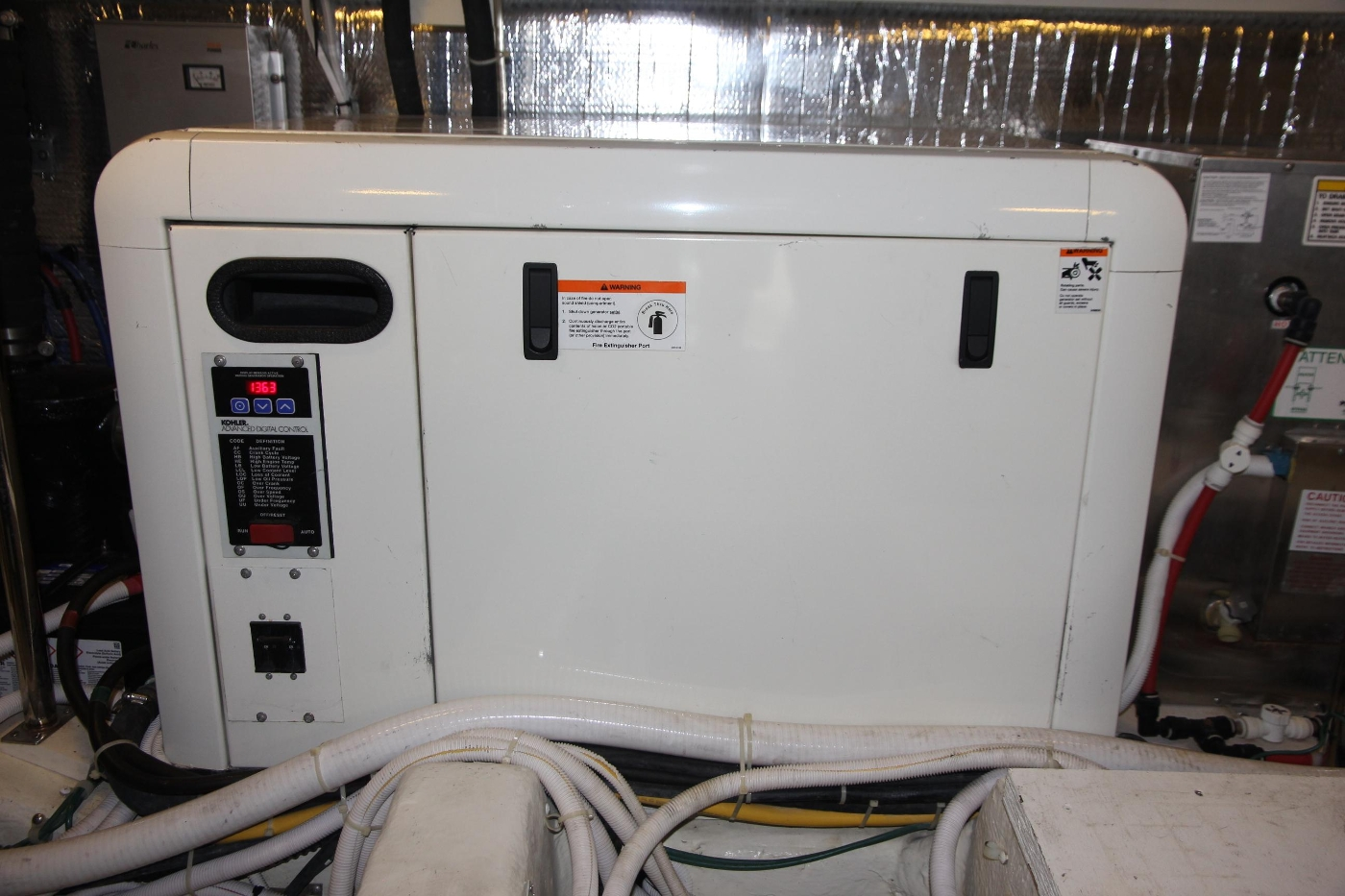 2005 Carver 560 Voyager Pilothouse, Genset with Sound Shield