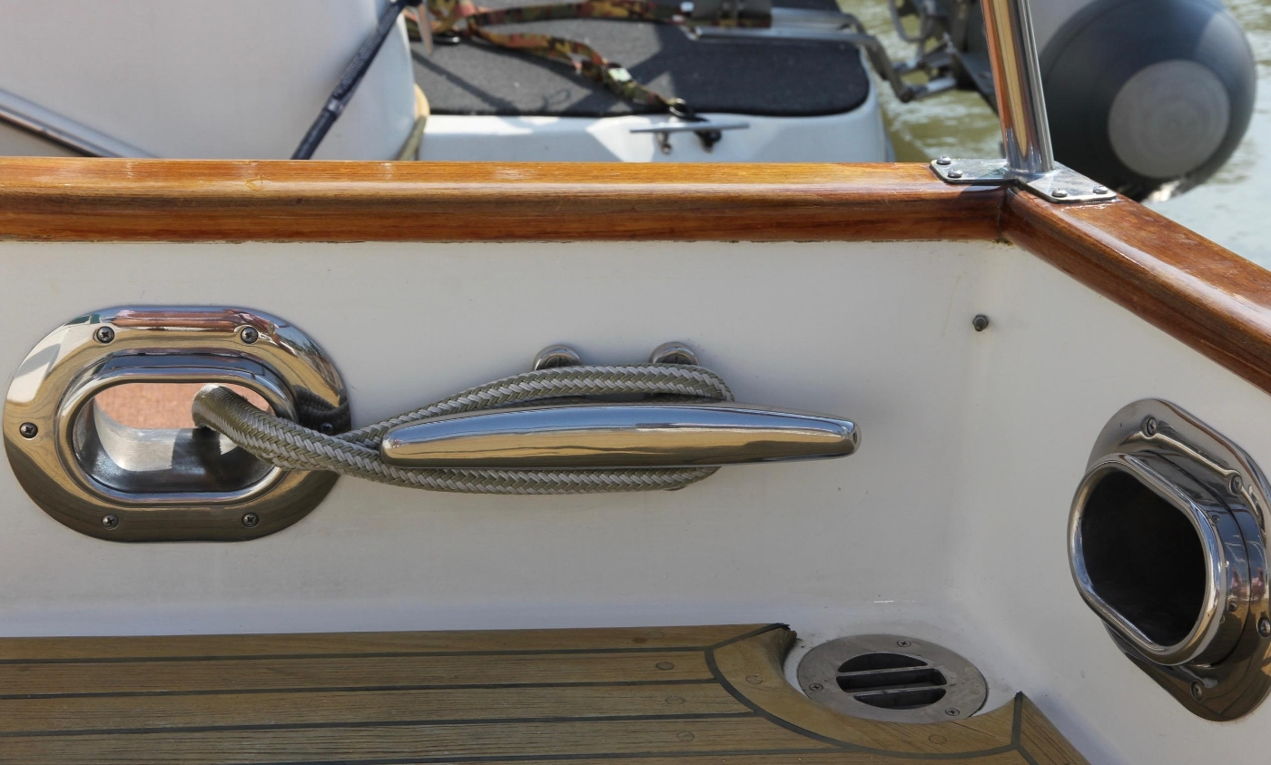 1995 Grand Banks 36 Classic, Stainless Deck Fittings