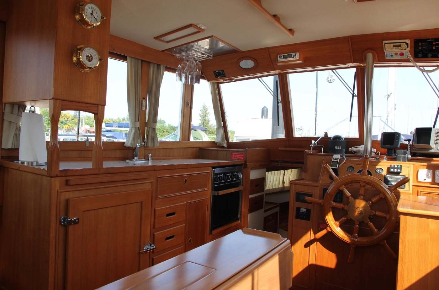 1995 Grand Banks 36 Classic, Galley and Helm