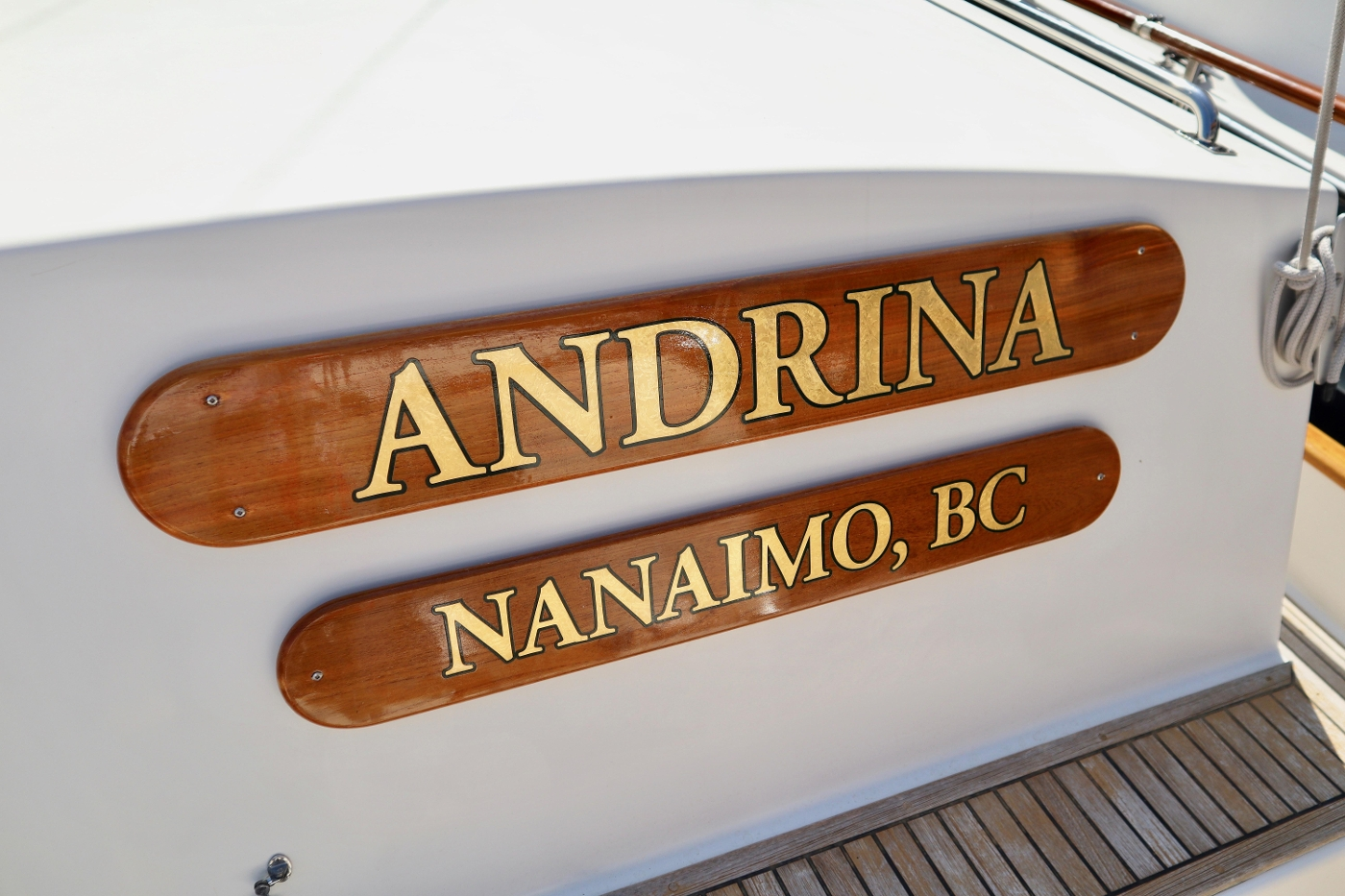 1995 Grand Banks 36 Classic, Name Boards