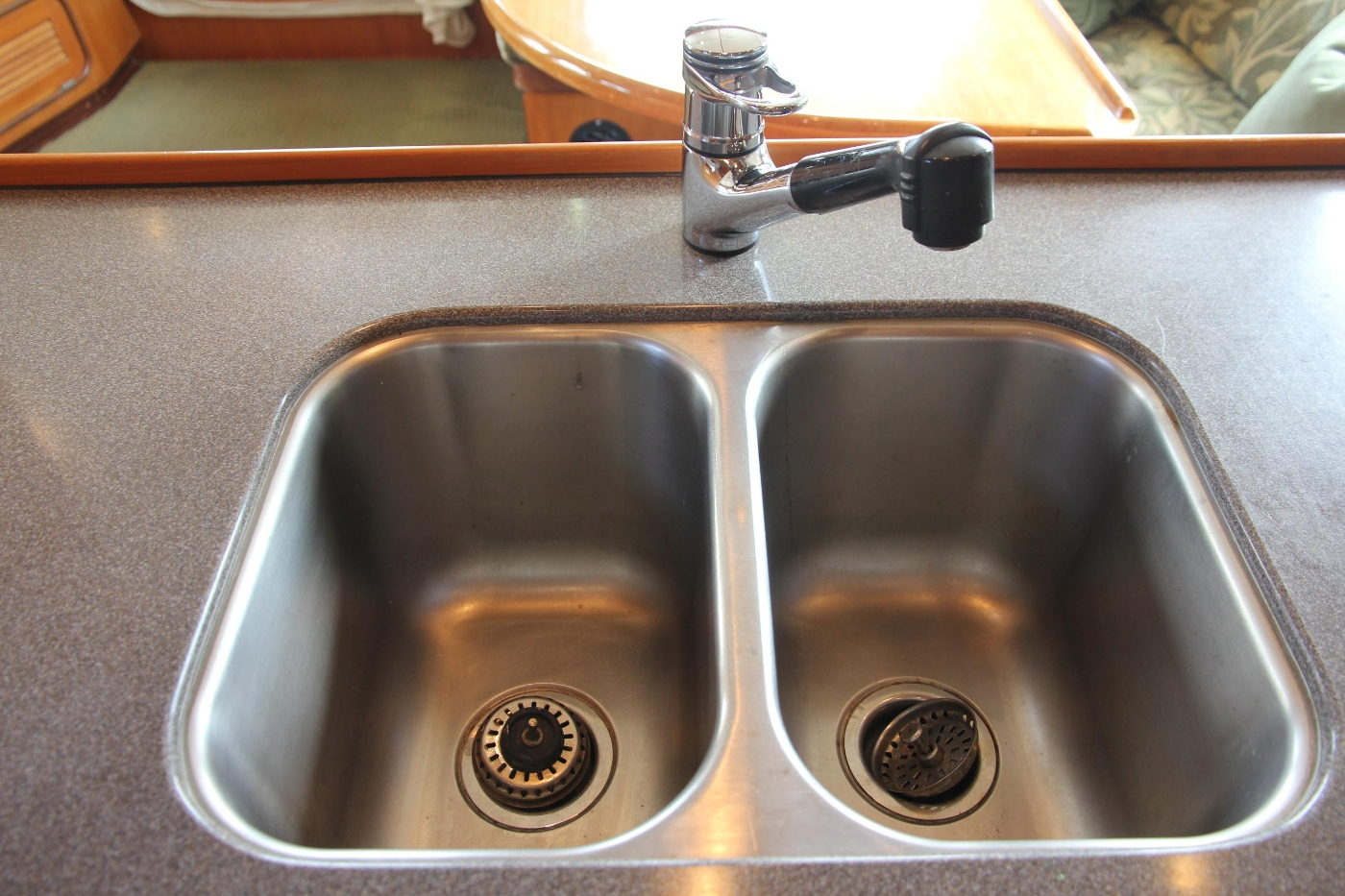 2000 Nordhavn Pilothouse, Double Stainless Sink