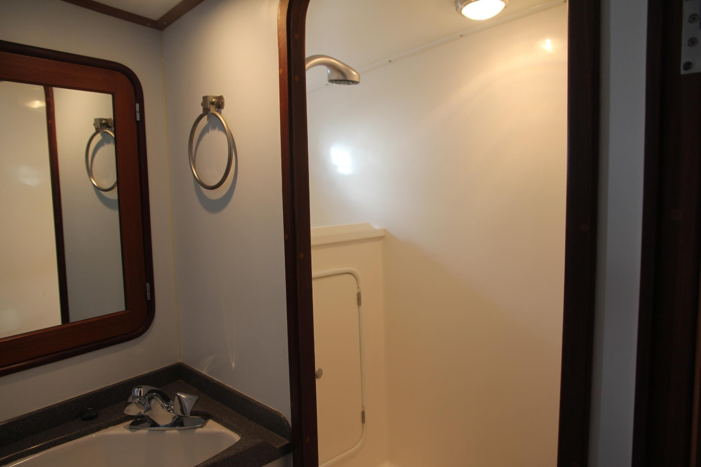 2000 Nordhavn Pilothouse, Master Vanity and Shower