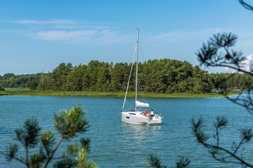 Beneteau Sailboat in the Bay
