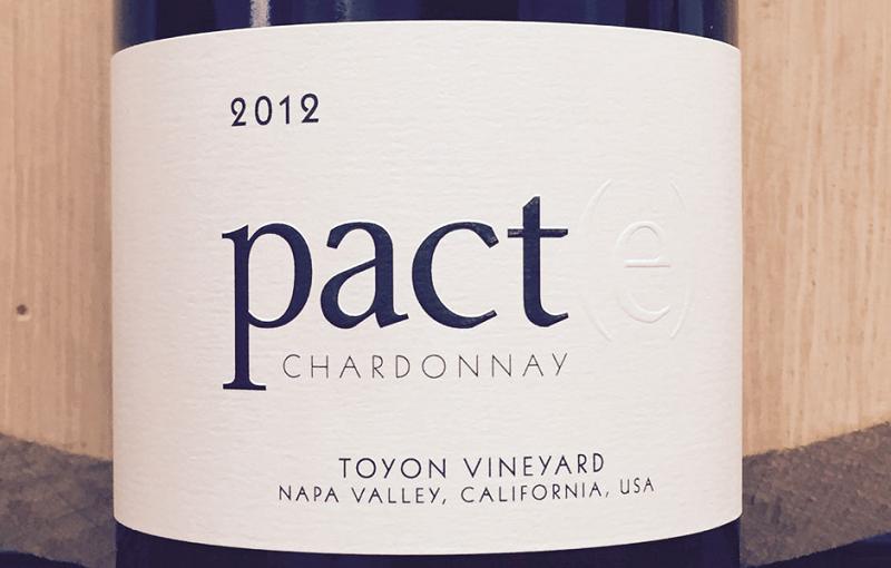 2012 Chardonnay Pact(e) Toyon Vineyard Napa Valley