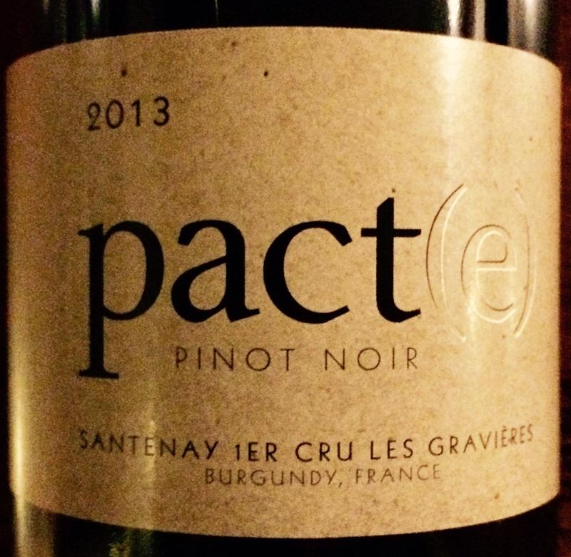 2013 Pinot Noir Pact(e) Santenay Premier Cru