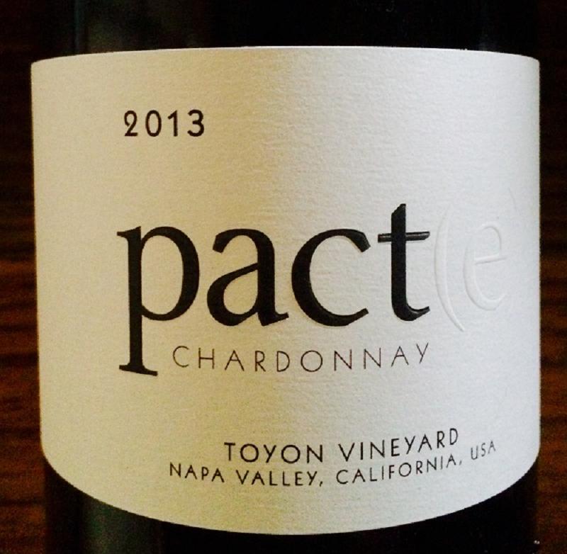 2013 Chardonnay Pact(e) Toyon Vineyard Napa Valley