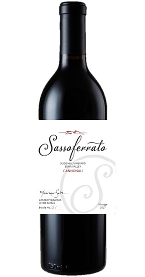 2017 Sassoferrato by Matt Smith Cannonau Slide Hill Vineyard Edna Valley