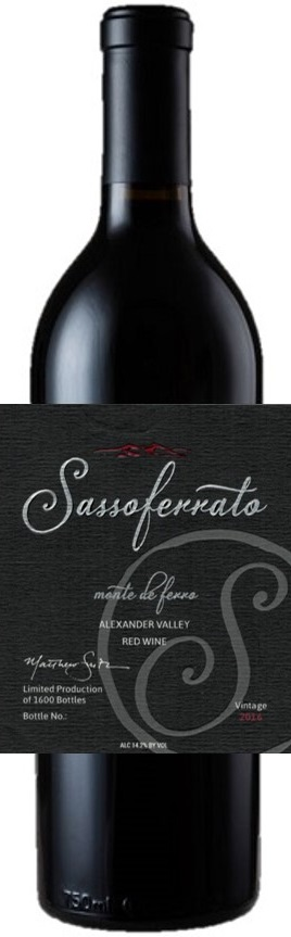 2016 Sassoferrato by Matt Smith Monte de Ferro Alexander Valley Red Wine