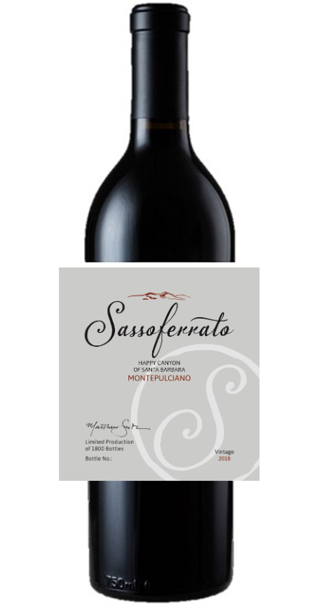 2018 Sassoferrato by Matt Smith Montepulciano Happy Canyon of Santa Barbara