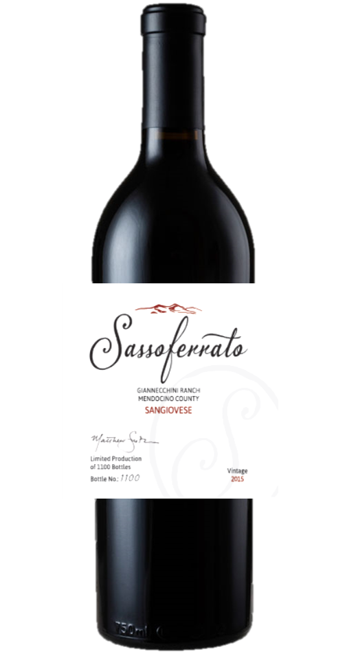 2015 Sassoferrato by Matt Smith Sangiovese Giannecchini Ranch Mendocino County