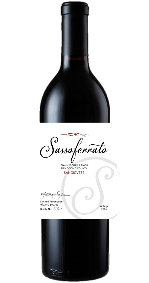 2016 Sassoferrato by Matt Smith Sangiovese Giannecchini Ranch Mendocino County