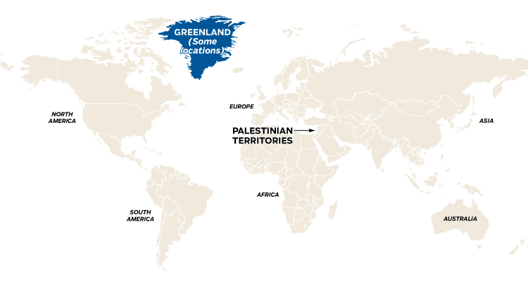 World map showing countries that change their clocks due to daylight saving time on Oct. 29