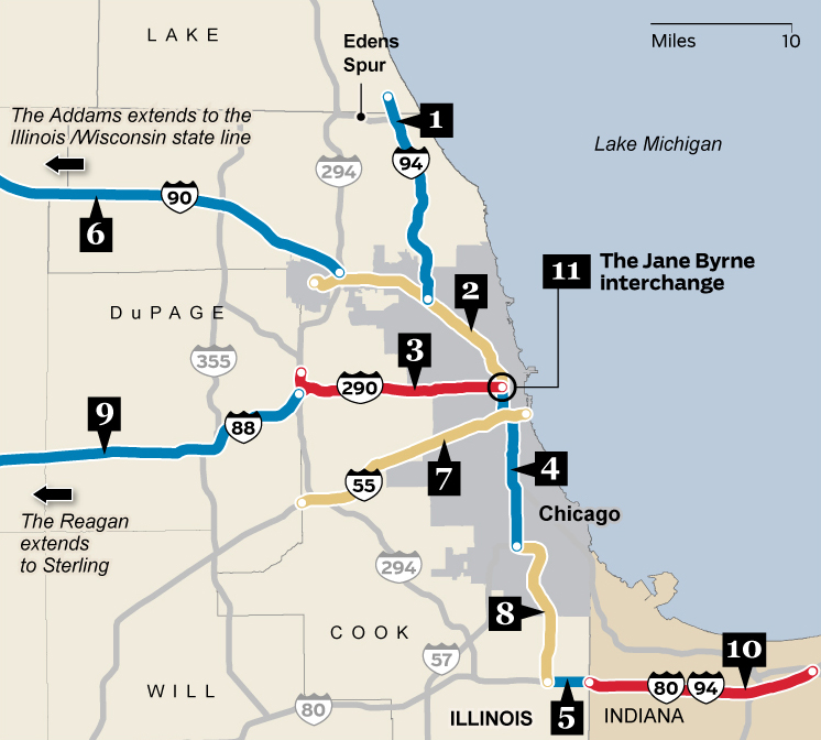 Name That Road The People Behind Chicago Expressways Chicago Tribune
