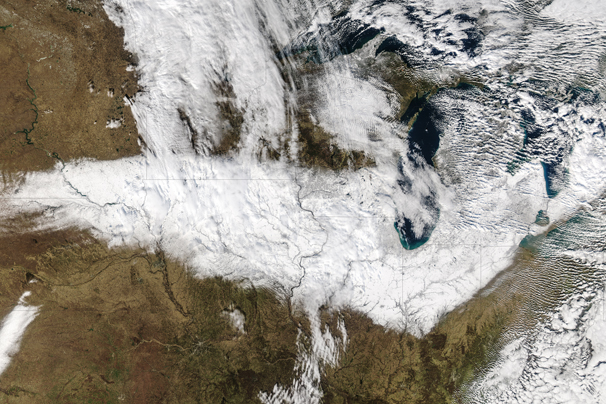 Satellite image of Chicago storm