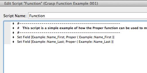 Screenshot of FileMaker Script Step