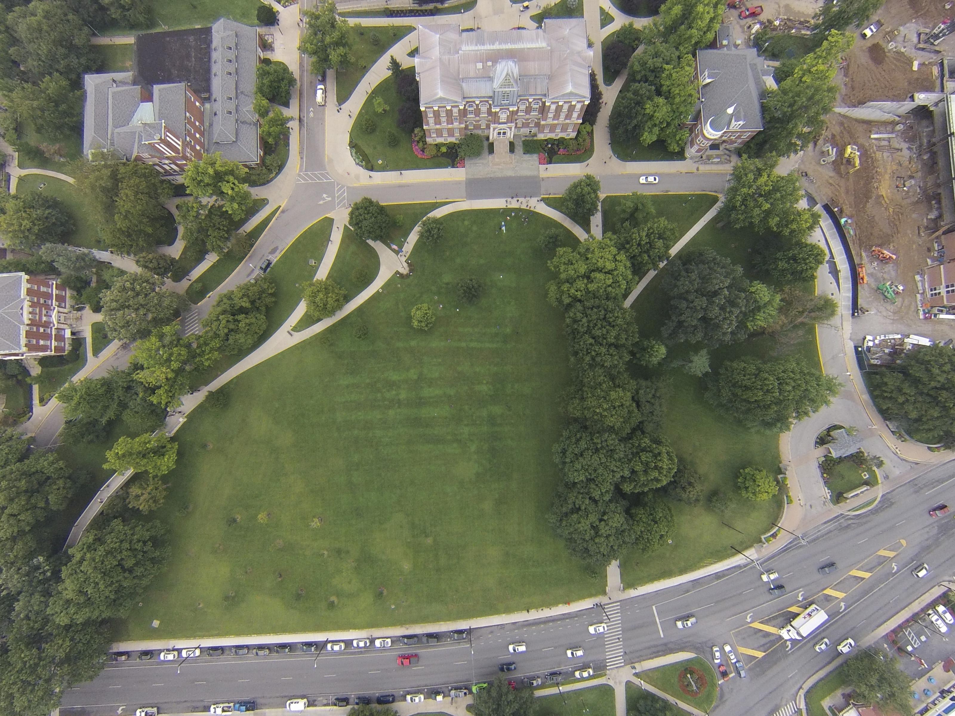 Travis' sky shot of campus