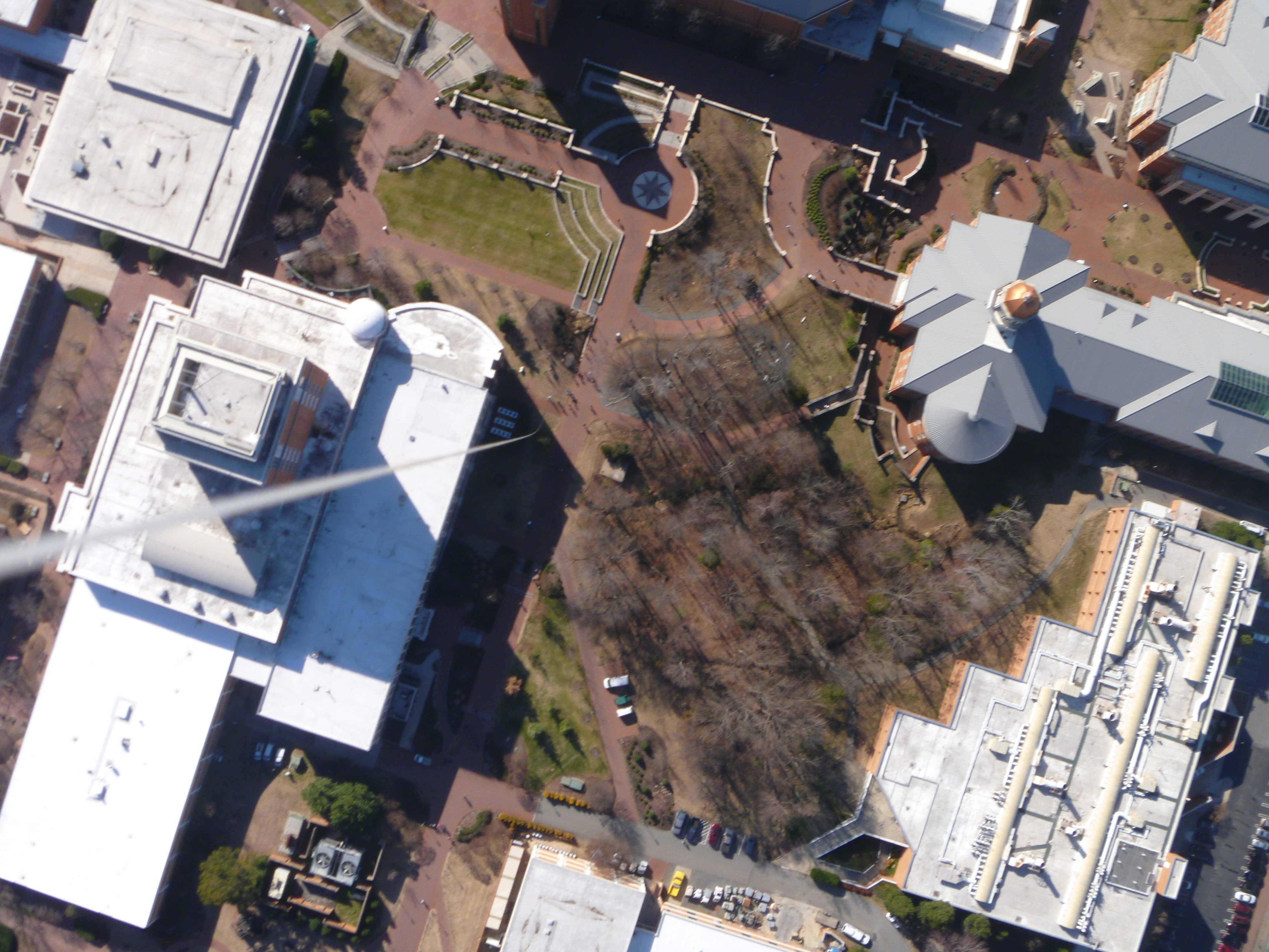 Unc Charlotte Campus pond and front