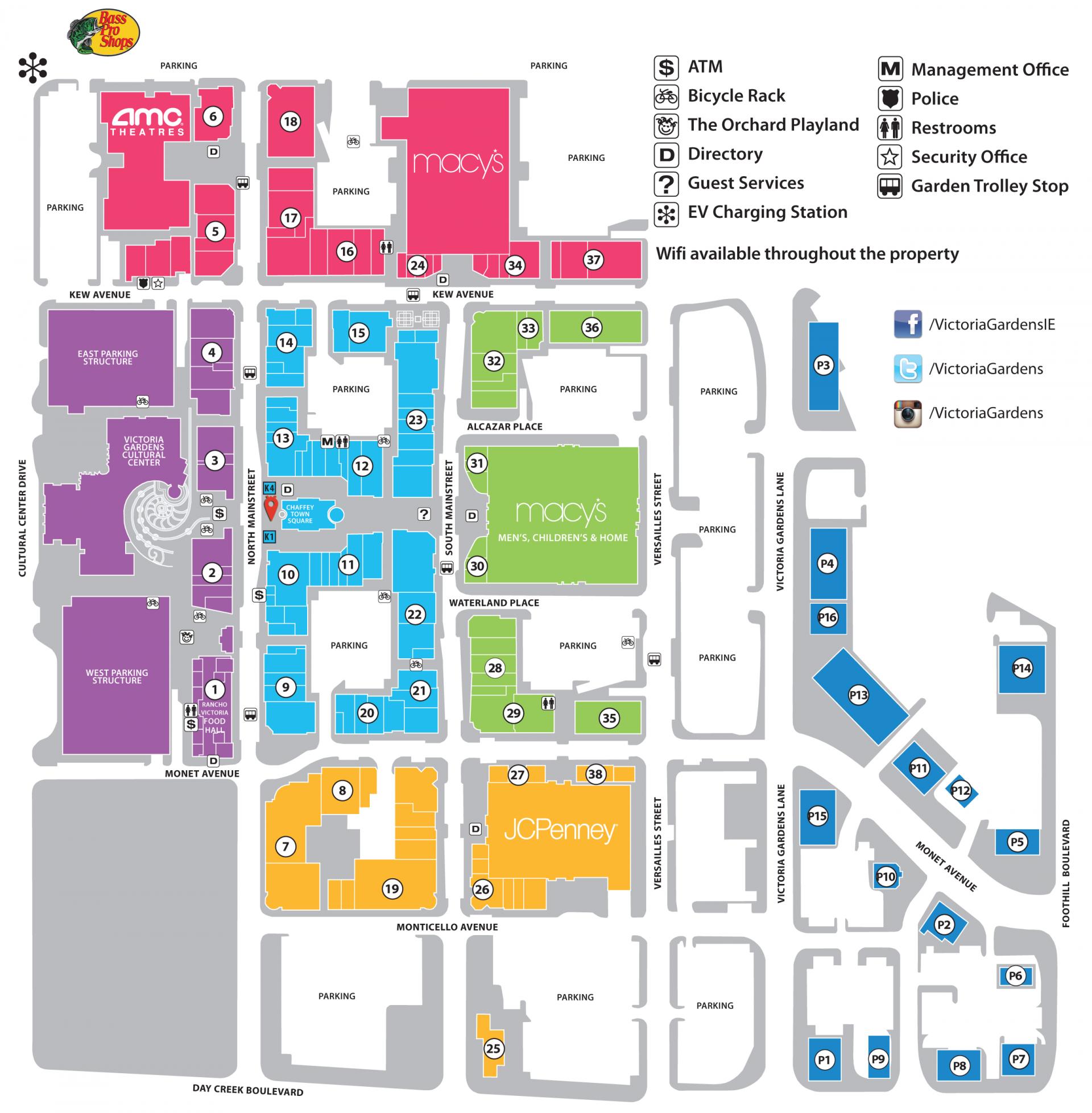 Map Of Victoria Gardens Mall Garden Ftempo