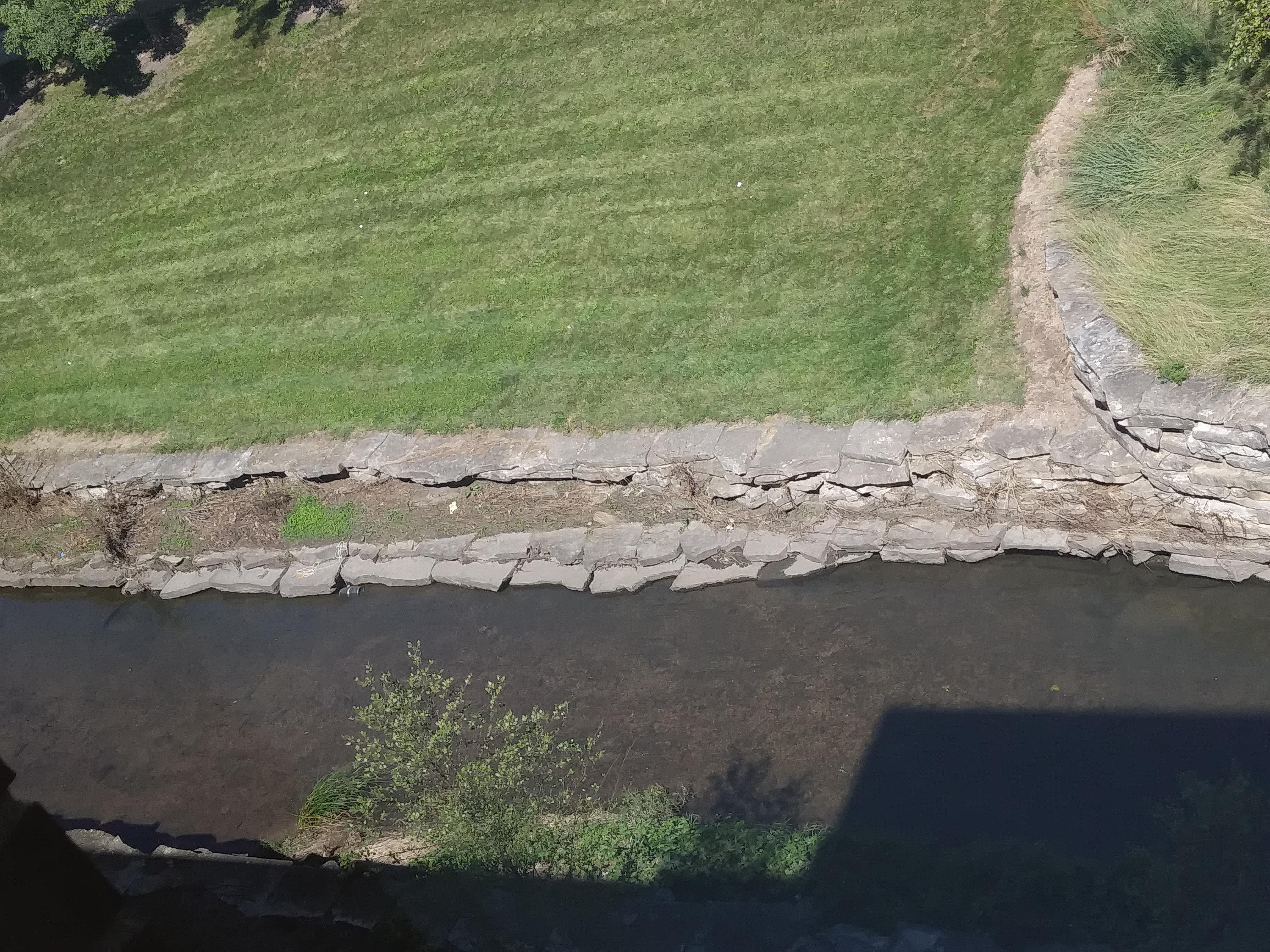 Boneyard Creek on campus