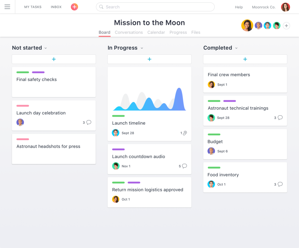 15 free project management tools to help with productivity for Asana task template