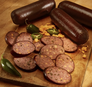Pasture-raised Pork Summer Sausage Cheese & Jalapeno