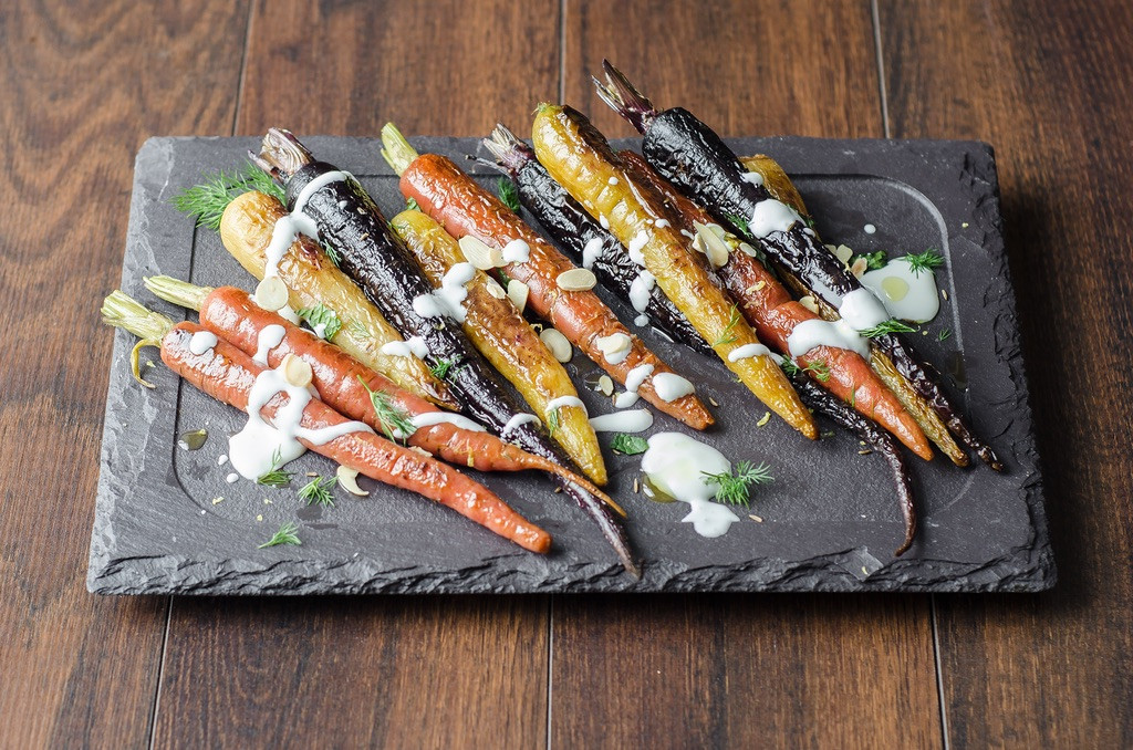 Tri-Color Roasted Carrots