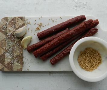 Beef Snack Sticks - Garlic