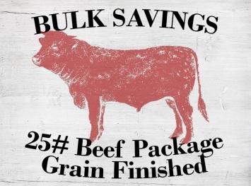25# Beef Package - Grain Fed