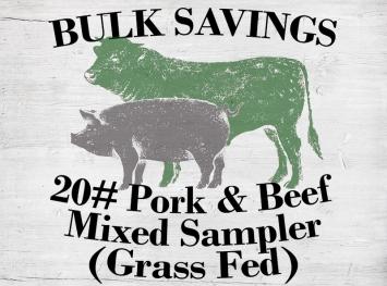 20# Mixed Sampler (w/ Grass Fed Beef)