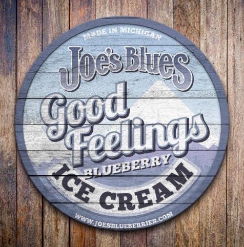 Bulk Blueberry-Vanilla Ice Cream